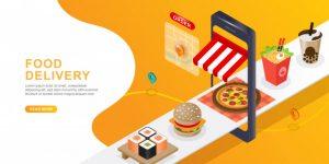 online food delivery curbside pickup or takeaway food